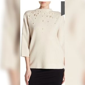 Imitation Pearl Accent Sweater